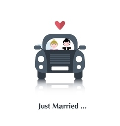 Lesbian marriage icon vector image