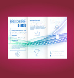 light swoosh wave line abstract brochure document vector image