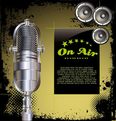 Local radio station grunge background vector image vector image