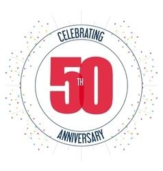 50 Year Celebrating Anniversary graphic vector