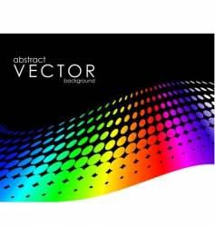 abstract background with rainbow circle vector image