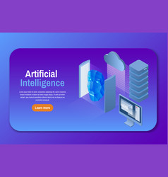 artificial intelligence isometric vector image