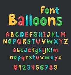Balloons font alphabet vector