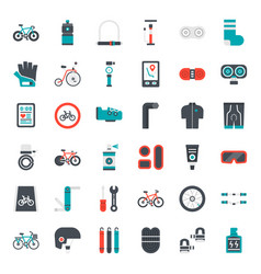 bicycle accessories vector image