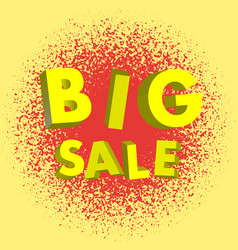 big sale lettering 3d modern background vector image