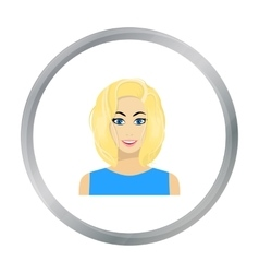 Blonde icon in flat style isolated on white vector