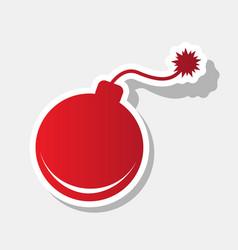 bomb sign new year reddish vector image