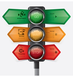 Business and financial with traffic light sign vector
