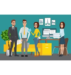 Business professional work team Shared working vector image