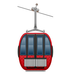 cabin ski cableway vector image