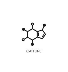 Caffeine molecular structure good morning vector