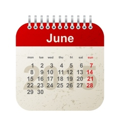 Calendar 2015 - june vector