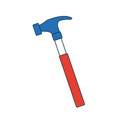 Carpenter hammer tool construction element vector