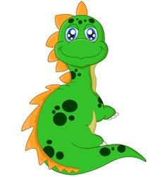 Cartoon dinosaur posing vector image