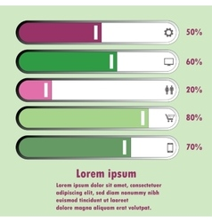 chart For infographic and presentation vector image