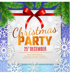 christmas party card invitation template vector image