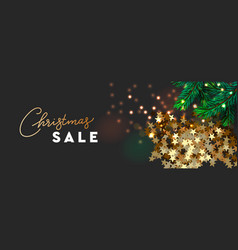 christmas sale banner xmas festive decoration vector image
