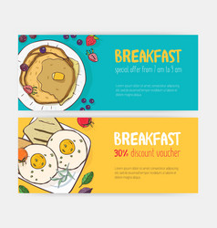 Collection of horizontal discount voucher or vector