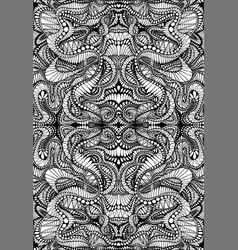 coloring page abstract mandala pattern maze line vector image