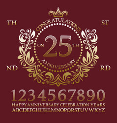 Congratulations on the anniversary sign kit vector