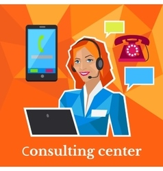 Consulting Center Flat Design Concept vector image