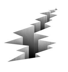 Crack fault line in ground vector