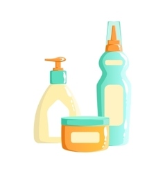 Cream lotion and soap dispenser containers vector