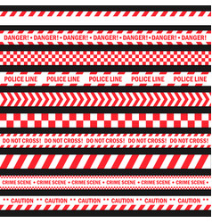 Danger and warning tape vector