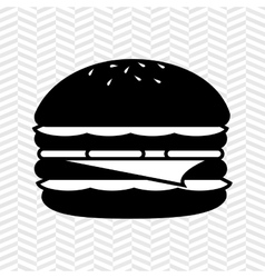 Delicious burger design vector