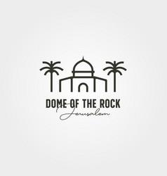 Dome rock minimal logo symbol design vector