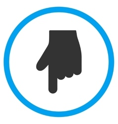 Down Index Finger Icon vector image
