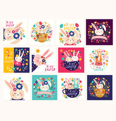 easter holiday cards vector image