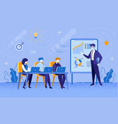 Education courses for workers and businesspeople vector