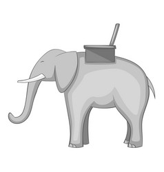 Elephant icon monochrome vector