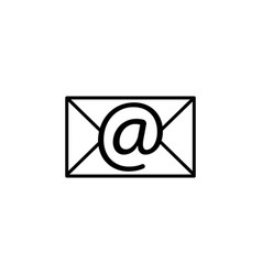 envelope mail icon email message sign black vector image