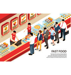 Fast food counter background vector