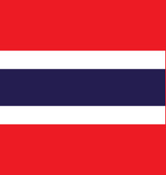 Flag of thailand in official rate and colors vector