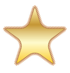 Gold star in rope vector
