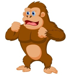 Gorilla cartoon vector image vector image