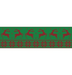 Green and red christmas jumper vector