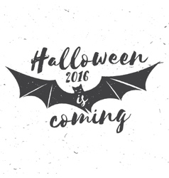 Halloween 2016 is coming vector image