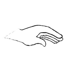Hand human laying icon vector