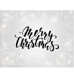 handdrawn lettering merry christmas design vector image