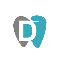 healthy dental care letter d vector image