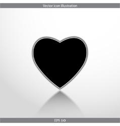 heart web flat icon vector image