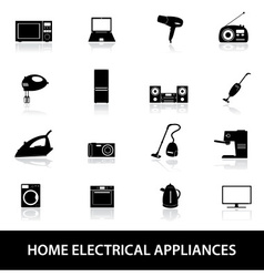 Home electrical appliances eps10 vector