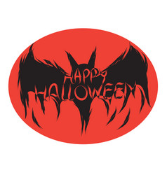 Icon happy halloween bat devil ghost art face vector