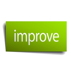 Improve green paper sign isolated on white vector