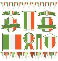 irish flags vector image