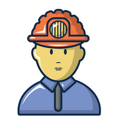 male miner icon cartoon style vector image